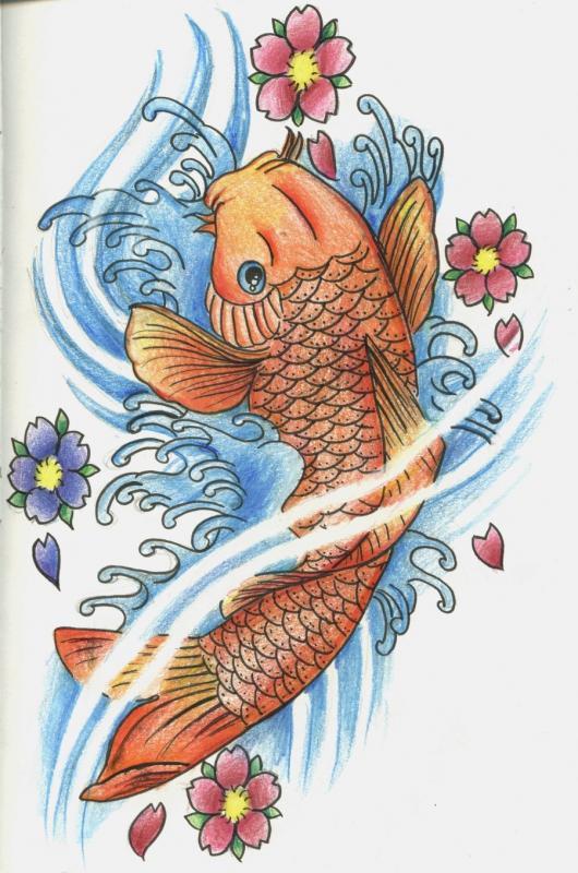 рисунок рыб татуировки